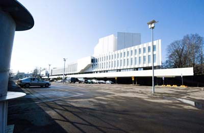 Another gleaming white concert hall, made of Pentelic marble and designed by the renowned Finnish Architect, Alvar Alto.